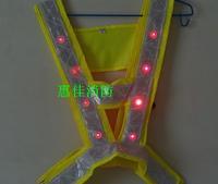 LED Reflective Safety Vest-Lime-Free Size