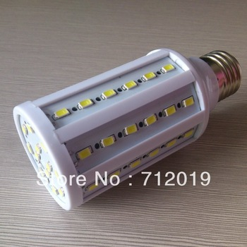 5730SMD 60leds Suoer Bright 1500LM 15W E27 Corn LED Light Bulb 110v/220v White/Warm Chandelier Lamp 10pcs/lot