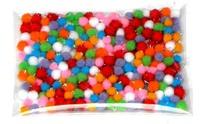 Small diy material fur pompon multicolour mini plush ball 5mm blended-color 200 pieces