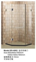 Shower customize bathroom compartmentation bath screen sliding door diamond door NEW