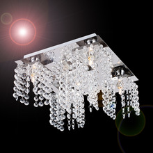 Free shipping Modern Beaded Ceiling chandelier decoration light with 5 bulbs in Crystal for Living Room Bedroom Hallway(China (Mainland))