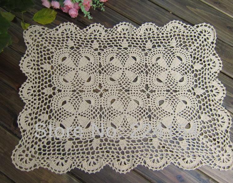 Bonito Patrón Mantel Ovalada Crochet Bandera - Ideas de Patrón de ...