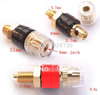 20PCS Copper Crystal Binding Post FOR Speaker Amplifier Terminal 4mm Banana Plug