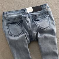 Miniyizu - fashion water wash brief light blue skinny pants female pencil jeans