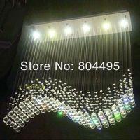 Modern Wave Crystal Ceiling Lamp Rain Drop Chandelier LED Lighting