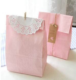 Livraison gratuite emballage cookie solide. favorables. multicolore sacs sacs en papier cadeau 30pc/lot 32x18x7.5cm