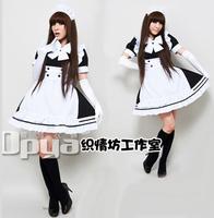 Black and white waitress uniforms lolita maid cos maid service