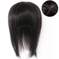 100% H HAIR  Litaihair real hair wig hair piece real hair invisible hand-woven 30cm