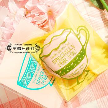 2 vintage coffee cup ziplock bag stick pocket gift bag accessories bag packaging bag