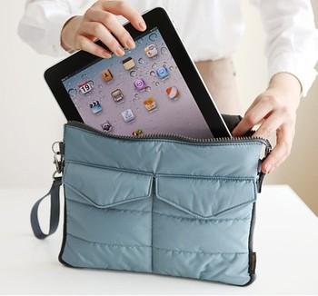 4Colors Apple iPad Bag in Bag Inner Bag Organizer Hangbag Insert ipad purse Nylon Digital Organizer Bag cosmetic train cases