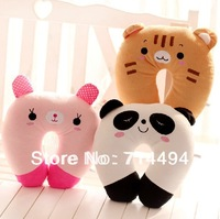 30cm Panda / Rabbit Doll cartoon U pillow type multifunctional office neckguard cushion Girl Gift free shipping