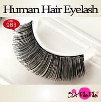 High Quality Multi Layer Natural Long Thick Real Human Soft Hair Strip False Eyelashes Eye Makeup Party Free Shipping IN BOX