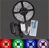 3528 SMD 5M RGB Waterproof 300 LED Strips + 44 IR Remote+24W Power