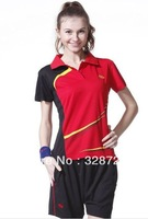 Fashionable badminton/baseball/tennis jersey with shorts for women