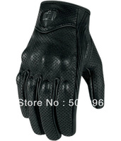 Free shipping American ICON invisible motorcycle gloves punch goat leather gloves super ventilation function