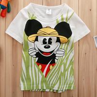 Free shipping NWT 5pcs/lot boy summer korea style short sleeve mickey t shirt