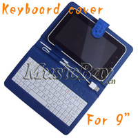 "9"" Universal cartoon Keyboard case Compatible for 9inch tablet PC with USB host or micro"
