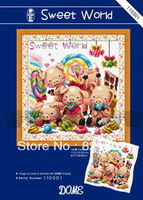 DMC embroidery thread , chinese cross stitch sets pigs wall craft
