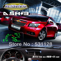 ActiSafety OBD-II Multi car head-up display HUD Universal Speed ASH-3 MPH/KMH