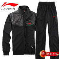 Men's sportswear sports suit collar black big size casual men sportthe suit  sports suits for men clothing sets the jacket