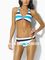 Hot Selling polo Rainbow Bikini for Womens Beach Swimsuits Sexy Swimwear Drop shipping