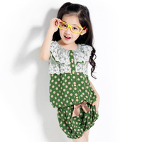 Female child children's clothing big boy women's 2013 family fashion summer 8-9-10 - 11 - 12 child casual short-sleeve set