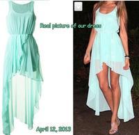 Chiffon dress Long ,Autumn dress warm,2013 fashion maxi dresses winter,mint green casual dress women, large size S M L, XL