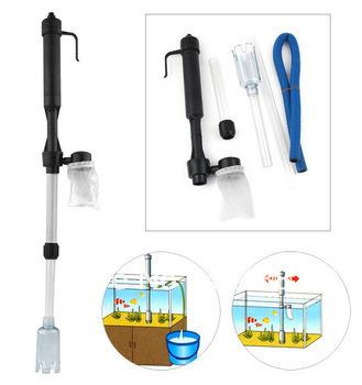 FREE SHIPPING-Siphon Aquarium Auto Fish Tank Vacuum Gravel Water Filter Cleaner Washer