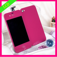 WHOLESALE !  Fashion Hot pink color touch screen digitizer For iPhone 4   4S  AT&T replacement brand new free shipping