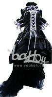 RL069100 Chobits Chii Black Elegant Lolita Cosplay Costume Size S/M/L/XL