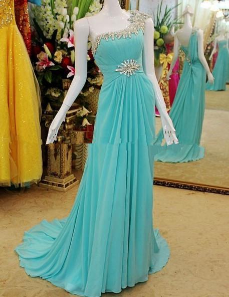 EV584 Stunning Fashion Flowing Chiffon Floor Length Real Sample New Evening Dress 2013(China (Mainland))