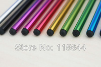 10 Colors Metal Universal Capacitive Stylus Touch Screen Pen for iPhone/iPad Tablet PC Cellphone 50PCS/lot, Free Shipping