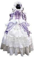 RL069101 Chobits Chii White and Purple Elegant Lolita Cosplay Costume Size S/M/L/XL