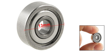 Silver Tone Magnetic 13mm x 4mm x 5mm Shield Ball Bearing