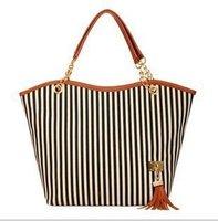 Street Snap Candid Tote Shoulder Bag Handbag Linen Black