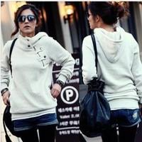 Women's Hoodies Fashion Solid Hooded Pullovers Autumn Sweatshirts Casual Wear WE033