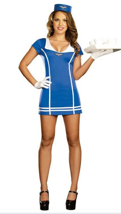 сексуальные дамы моряков ml5274 синий костюм
