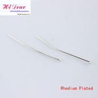 A Pack 20--50mm Length Rhodium Plated Metal Jewelry Flat Head Pins DIY Jewelry Accessories/Findings For Women/Girls Handmade