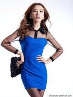 2276 Office lady slim tight pattern mini dress evening dress sexy dresses