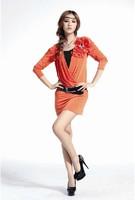 9603 gorgeous 2013 spring new Fashion ruffle stunning chiffon ruffle Long sleeve mini dress women dresses