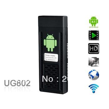 UG802 Android 4.1 Cortex A9 Mini PC w/ Wi-Fi / Dual Core / 1GB RAM / 4GB ROM - Black (EU Plug)