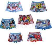 12 PIECES different sizes, kids,boys underwear,boy's brief,cartoon characters children's boy's boxer short free shipping 7 style