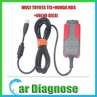 100% Original X-Horse M-VCI diagnostic interface for TOYOTA TIS+HONDA HDS+VOLVO DICE OBDII Reprogrammer MVCI Scanner Red PCBA