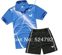 free shipping ! New 2013 Butterfly Men Badminton /table tennis Polo Shirt/Shorts l910 set