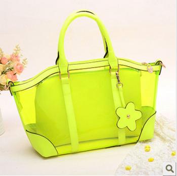 Free Shipping 2013 women's handbag transparent bags jelly bag crystal bag handbag cross-body candy color shoulder bag