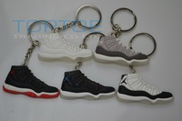 Popular cute mini Shoe Keychain 5pcs/lot Sneaker key ring