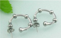 21.2013 New Style Fashion Earrings  FACTORY PRICE  Hot Selling Stainless Steel Free Shipment