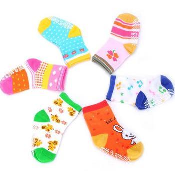 10 Pair/Lot  Unisex Children's Cotton Antiskid Musical Note Print Socks for Baby boys and girls WTZ392