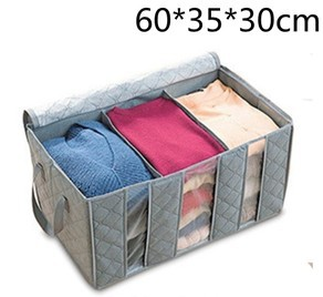 Free shipping Bamboo clothes Storage box,Multifunction Folding Large Storage Box Organizer bag(Chin