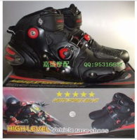 free shipping Top pro-biker a09001 automobile race shoes motorcycle shoes knight shoes